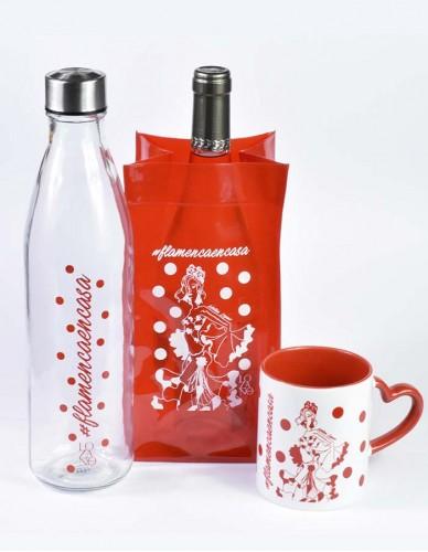 Pack Taza + enfriador + botella cristal 1L