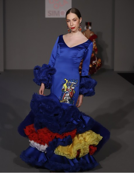 Vestido raso pintado