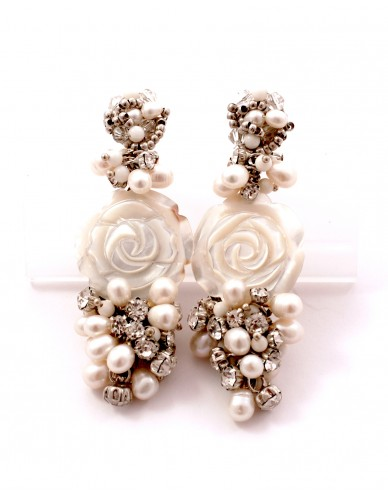 Pendientes nácar perlas